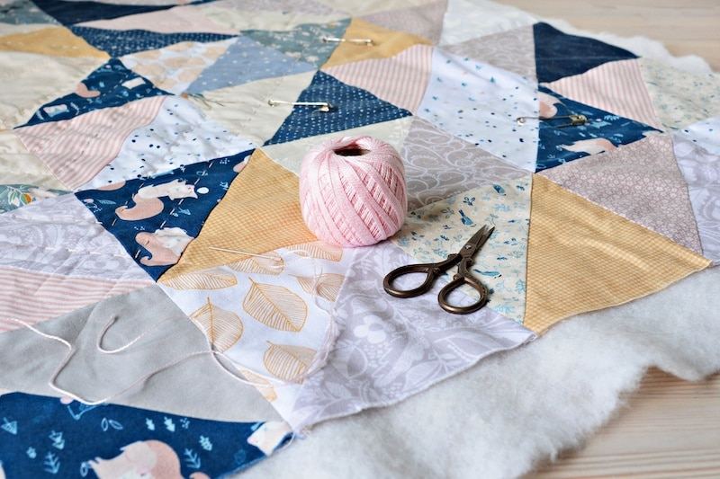 Arrange the Layers of Your Quilt