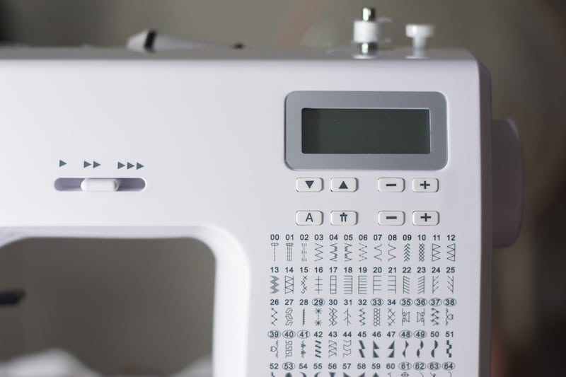 Selecting a Pattern on a Sewing Machine