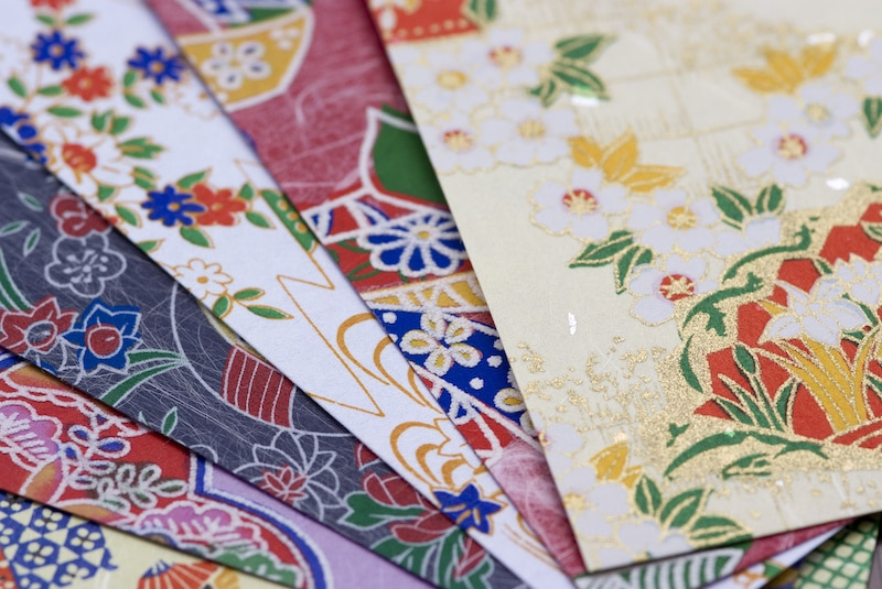 Washi Paper Used for Origami